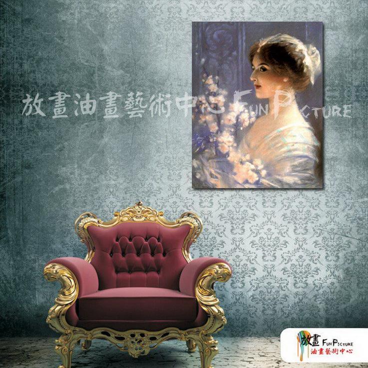 手绘酒店宾馆装饰画古典写实人物油画艺术 美女贵妇01 人高清图片
