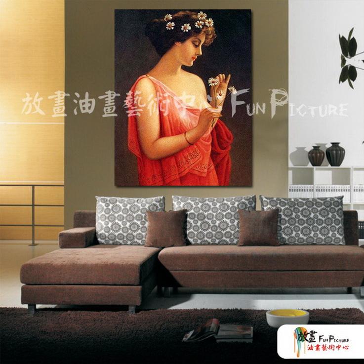 手绘酒店宾馆装饰画古典写实人物油画艺术 美女贵妇13 人高清图片
