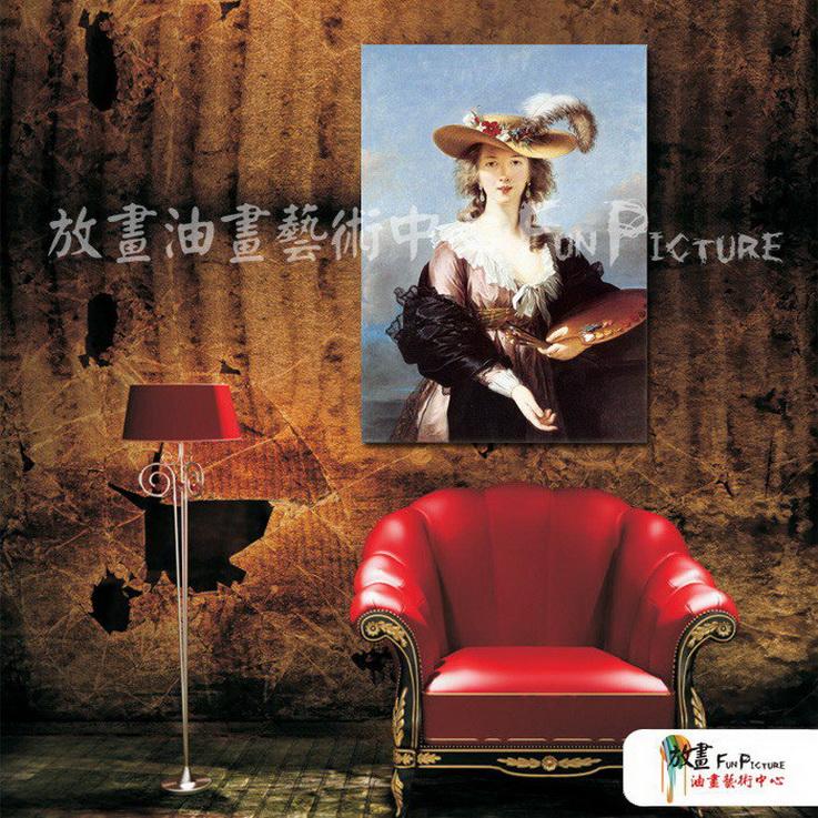 手绘酒店宾馆装饰画古典写实人物油画艺术 美女贵妇16 人高清图片