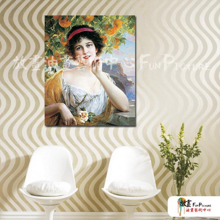 手绘酒店宾馆古典写实人物油画艺术收藏品 美女贵妇02 人高清图片
