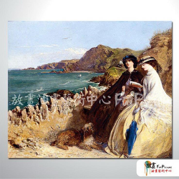 手绘酒店宾馆装饰画古典写实人物油画艺术品 美女贵妇34 高清图片
