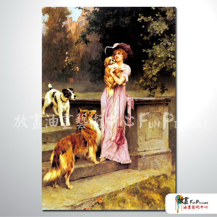 手绘装饰画欧式古典写实人物油画艺术收藏品 美女贵妇36 高清图片