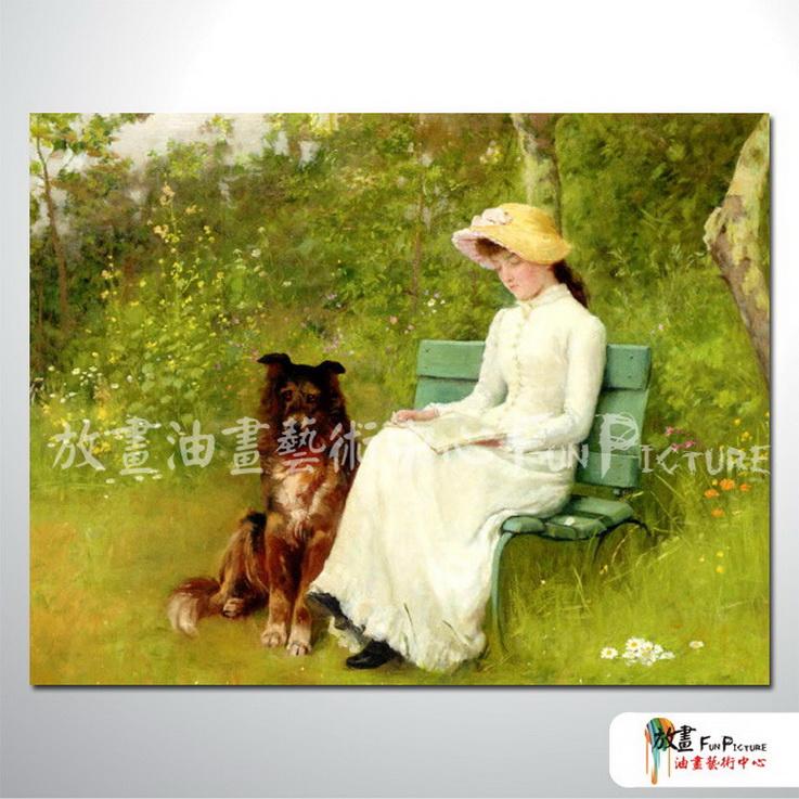 手绘酒店宾馆装饰画古典写实人物油画艺术品 美女贵妇47 高清图片
