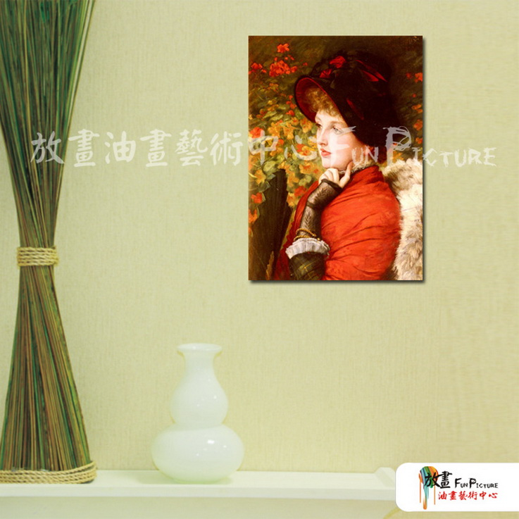 手绘酒店宾馆装饰画古典写实人物油画艺术 美女贵妇05 人高清图片